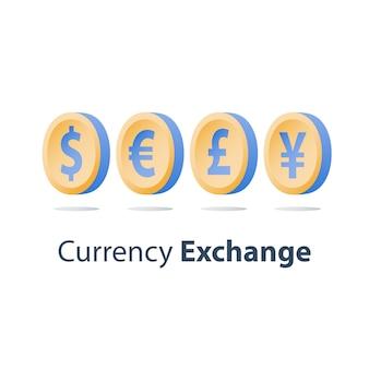 Valutawissel concept illustratie