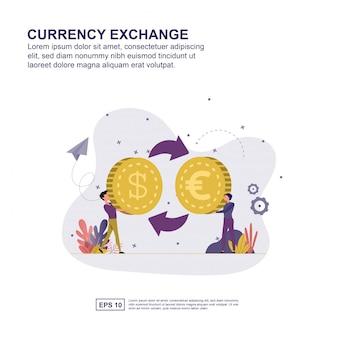 Valutawissel concept
