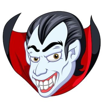 Vampier gezicht cartoon