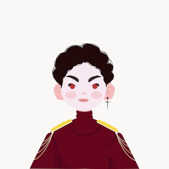 Vampier jongen illustratie. cool dracula illustratie.