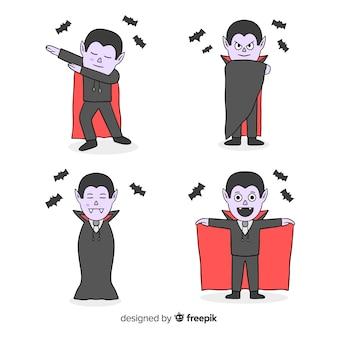 Vampier karakter dansende bewegingen