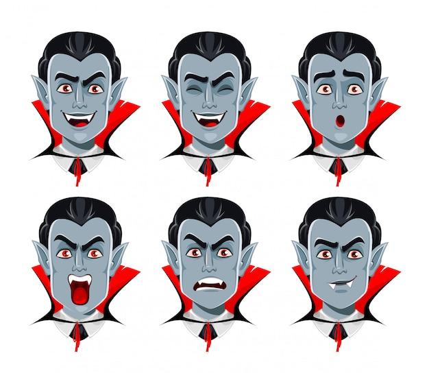 Vampieremoties, verschillende gezichtsuitdrukkingen