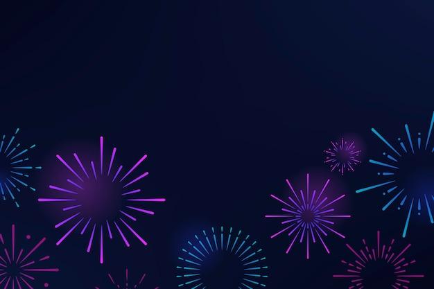 Van achtergrond vuurwerkexplosies ontwerp