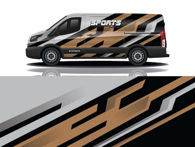 Van auto sticker wrap illustratie