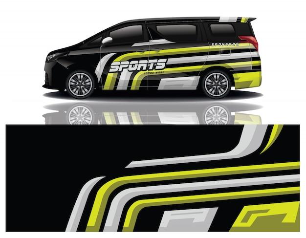 Van auto sticker wrap ontwerp
