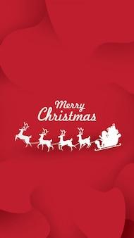 Van de de groetkaart van kerstmis de achtergrondrendier