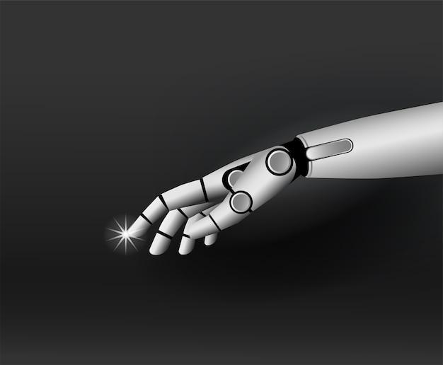 Van de de hand 3d illustratie van de robot technologie als achtergrond