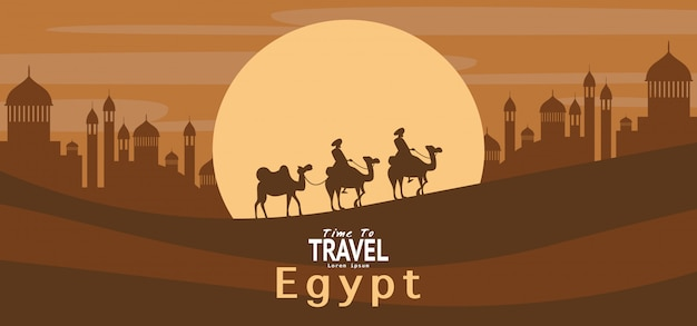 Van de de reisvakantie van egypte het behang, banner, achtergrond