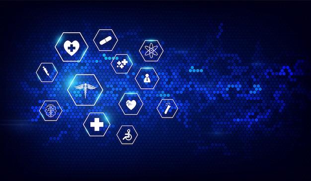 Van het achtergrond gezondheidszorg medisch innovatieontwerp ontwerp
