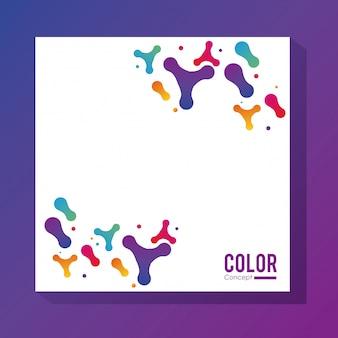 Van het achtergrond kleurenconcept kader