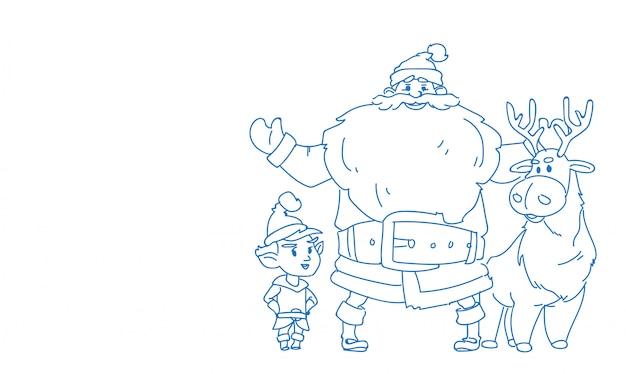 Van het de rendierelf van de kerstman gelukkige nieuwe jaar vrolijke kerstmis