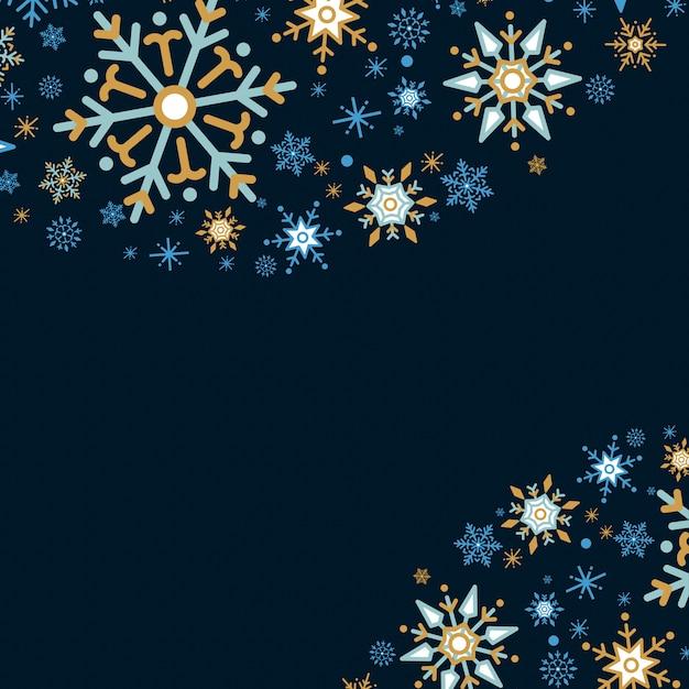 Van het de vakantieontwerp van de sneeuwvlok vector als achtergrond