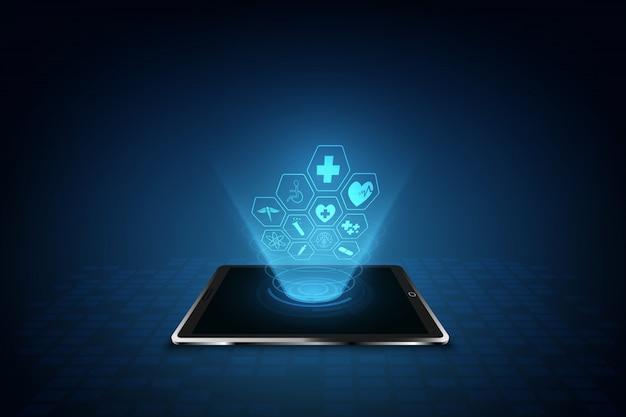 Van het het patroon medisch innovatie van het gezondheidszorgpictogram ontwerpontwerp als achtergrond