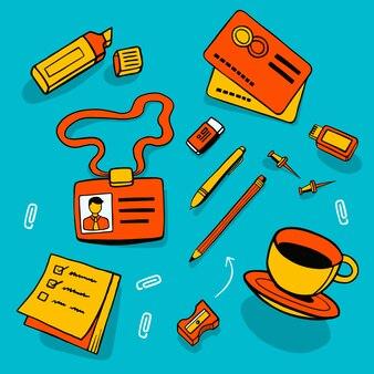 Van kantooraccessoires en verschillende objecten