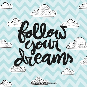 Van letters voorziende achtergrond met droomconcept