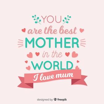 Van letters voorziende de dagachtergrond van de moeder