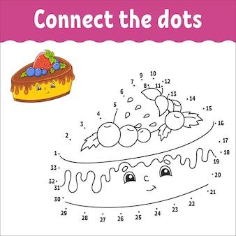 Van punt naar punt teken een lijn handschriftoefening cijfers leren voor kinderen