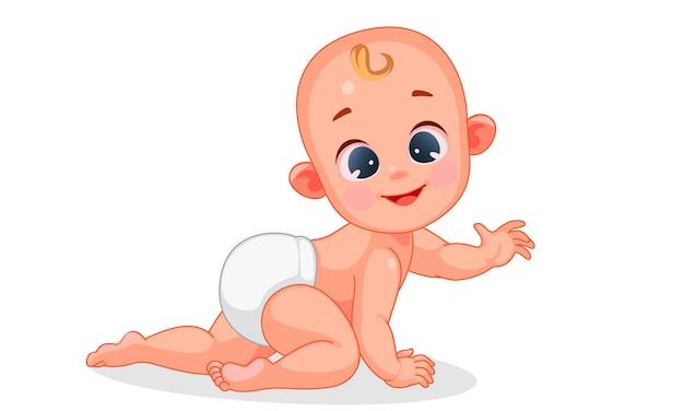 Van schattige baby kruipen