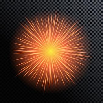 Van vuurwerk, groet op een transparante achtergrond