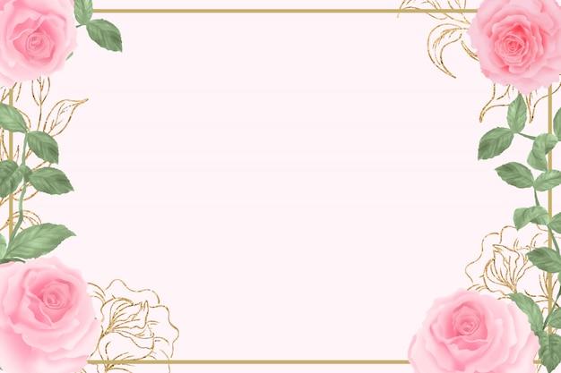 Van waterverfbloemen pastelkleuren als achtergrond