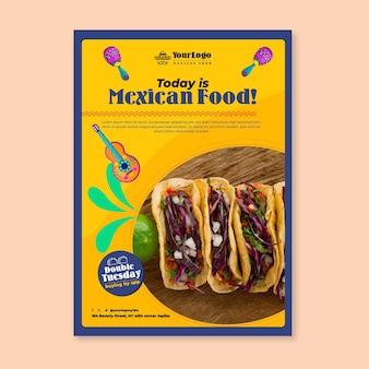 Vandaag is het poster-sjabloon voor mexicaans eten