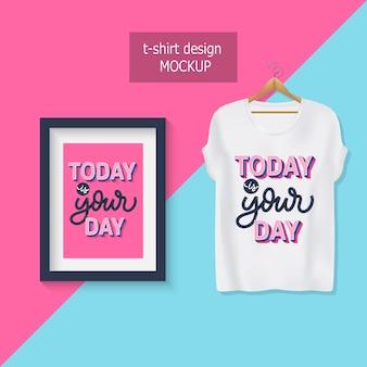 Vandaag is jouw dag. motiverende citaten belettering.