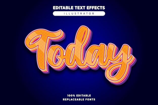 Vandaag teksteffect bewerkbaar