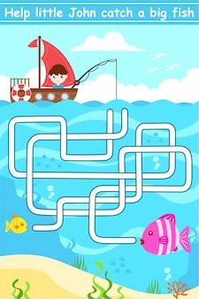Vang het doolhof van vissen