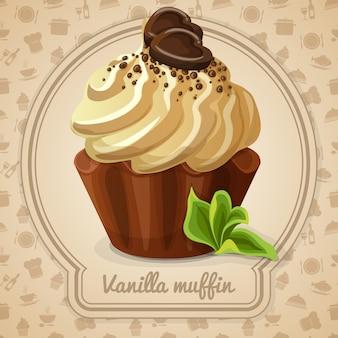 Vanille muffin illustratie