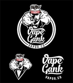Vape gank logo-ontwerp