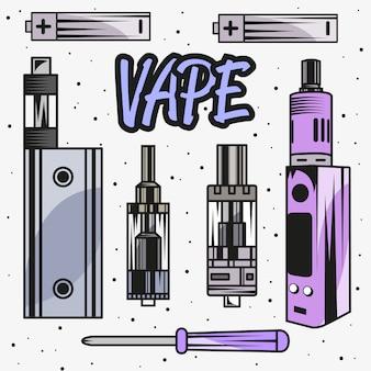Vapen die elektronische sigaret roken