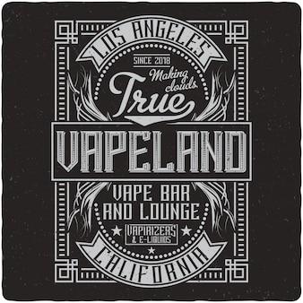 Vapen vintage label