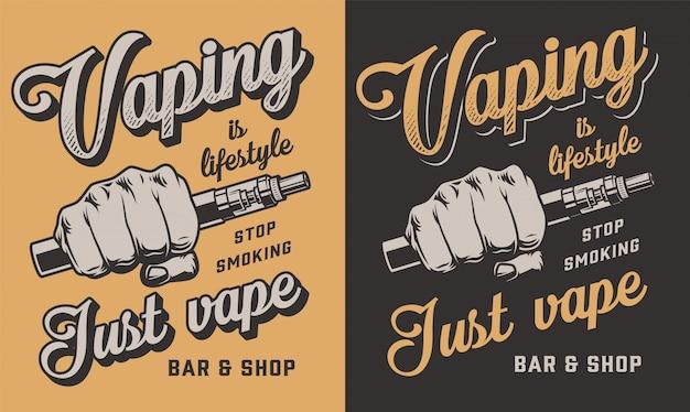 Vaping kleding illustratie