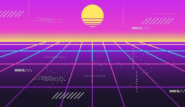 Vaporwave achtergrond voor disco
