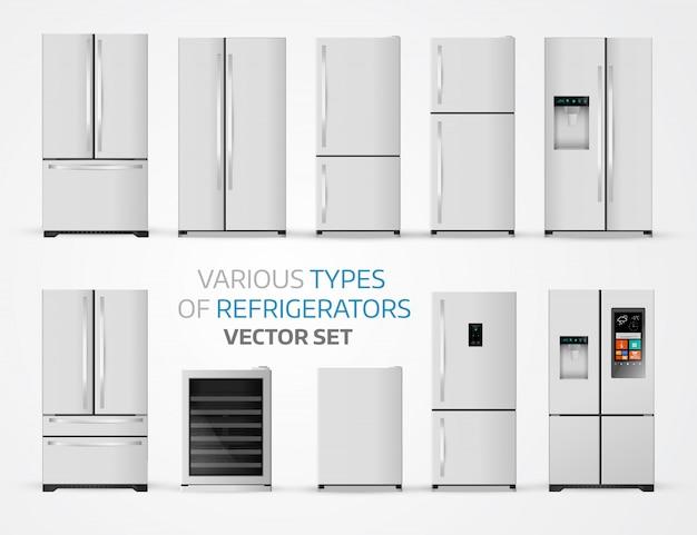 Variabele soorten koelkasten