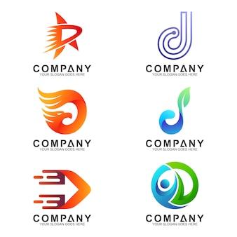 Variatie van de letter d logo collectie