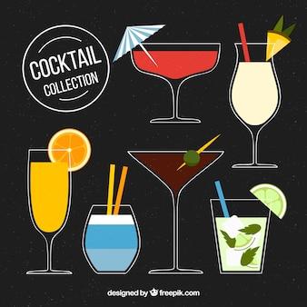 Variedad de bebidas exotica