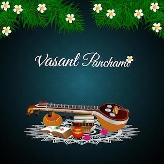 Vasant panchami met saraswati veena en boeken