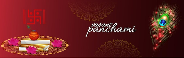 Vasant panchami viering achtergrond