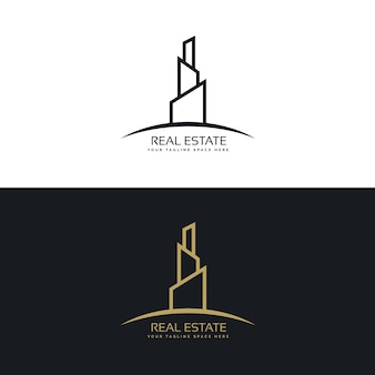 Vastgoed building logo design concept