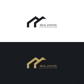 Vastgoed creatief logo ontwerp in minimalistische stijl