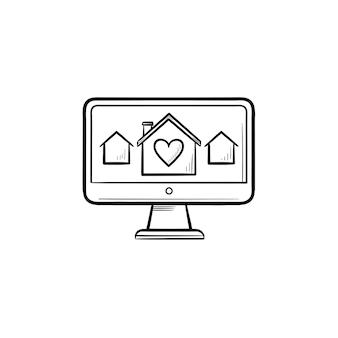 Vastgoed website hand getrokken schets doodle icon