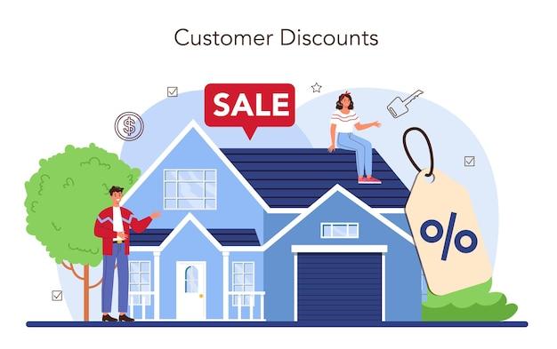 Vastgoedsector. positieve feedback van klanten. korting