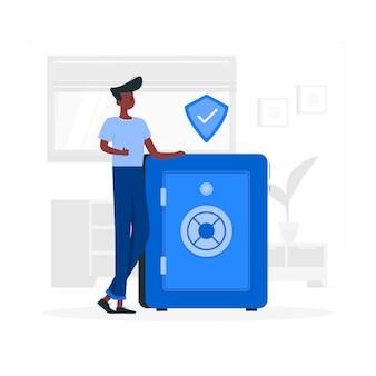 Vault concept illustratie