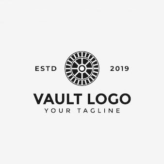 Vault logo template illustratie