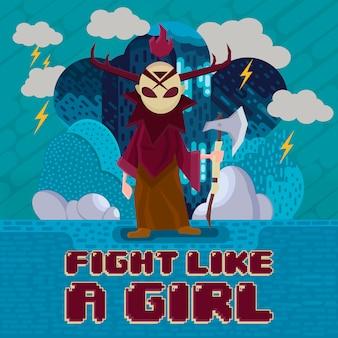 Vecht als een meisje - schurk