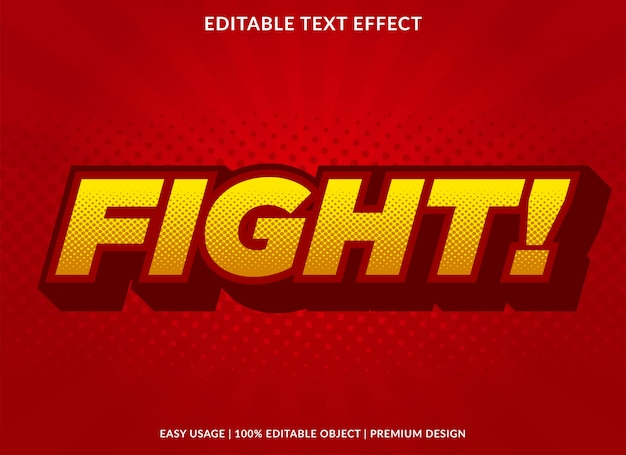 Vecht tekst effect sjabloon