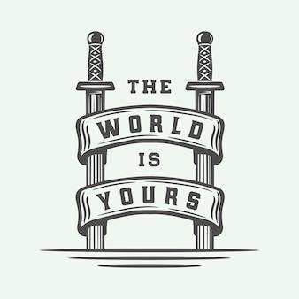 Vechten typografie poster