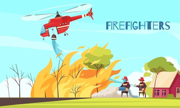 Vechten wild fire achtergrond