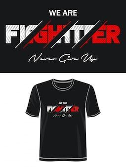 Vechter typografie design t-shirt